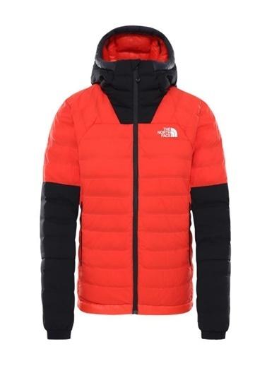 The North Face Summit L3 50/50 Down Hoodie Kadın Mont Kırmızı/Siyah Renkli